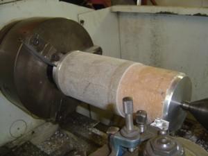 Custom Cutlass Bearing in Lathe