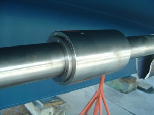 "An installed SKF Hydraulic Muff Coupler on  5.5"" Shaft for a 131' Feadship"
