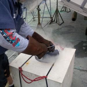 Liquid nitrogen process for Thordon Bearings