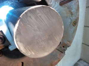 "Lloyd's requirement - ""Heat"" number applied to end of new shaft"